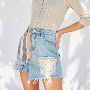 Urban Outfitters BDG Patchwork Denim Skirt
